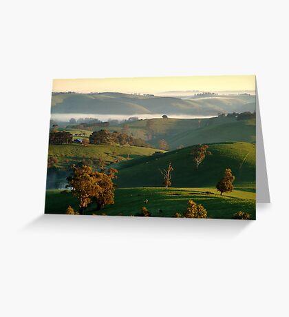 Rolling Hills, Dollar Gippsland Greeting Card