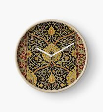 William Morris Floral Persian Carpet Art Print Design Clock