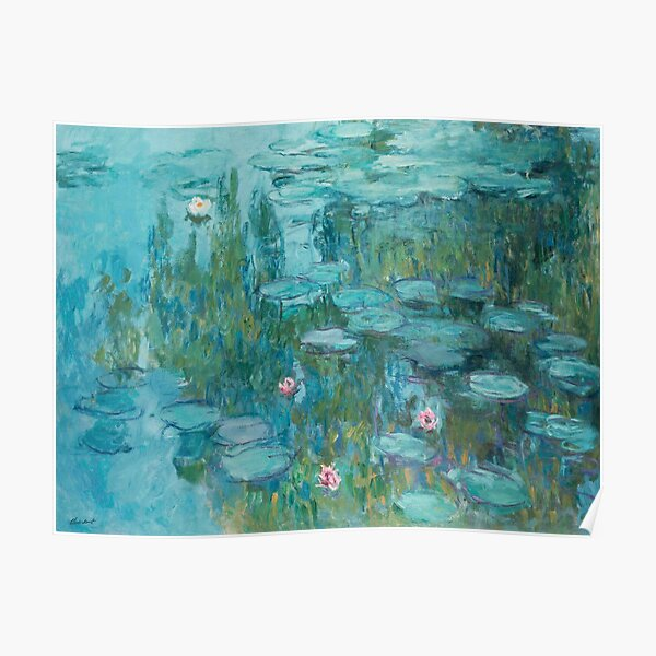 Water Lilies by Monet, 1915  Poster