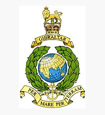 The Corps of Royal Marines Logo Photographic Print