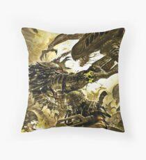 alien vs predator vs marine Throw Pillow