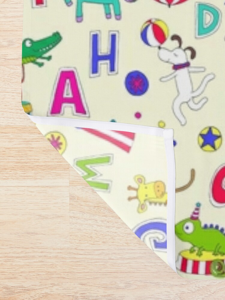 Alternate view of Circus Animal Alphabet - multicoloured on cream - Cute animal pattern by Cecca Designs Shower Curtain