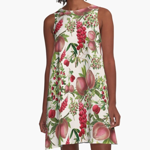 Heritage Fruit and Flowers A-Line Dress