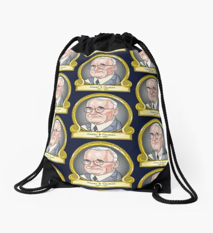President Harry S Truman Drawstring Bag