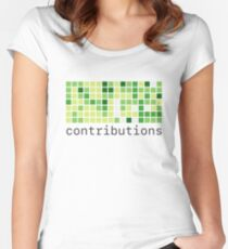 Github Contributions Women's Fitted Scoop T-Shirt