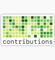 Github Contributions Sticker