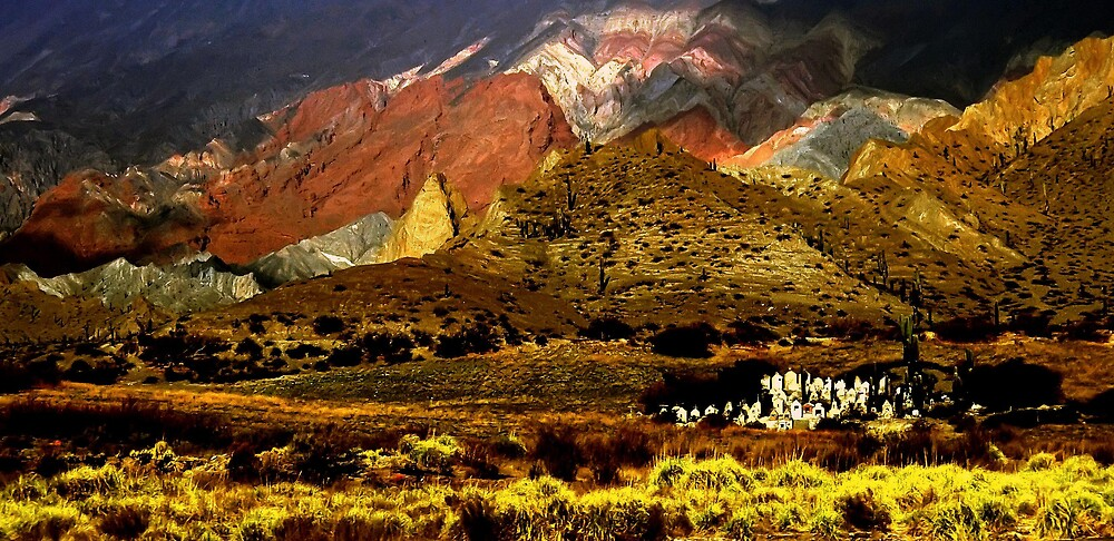 graveyard in high Andes by riccardo tani