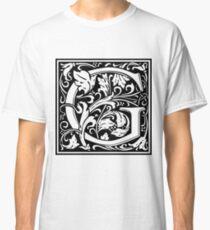 Medieval Letter G William Morris Letter Font Classic T-Shirt