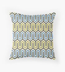 Lock & Key - Golden Lime/Marina Blue/Charcoal/Primrose Yellow Throw Pillow