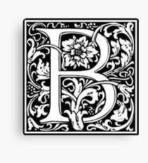 Medieval Letter B William Morris Letter Font Canvas Print