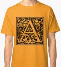 Medieval Letter A William Morris Letter Font Classic T-Shirt