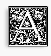 Medieval Letter A William Morris Letter Font Canvas Print