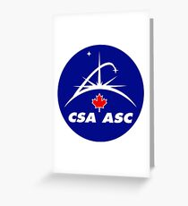 Canadian Space Agency Greeting Card