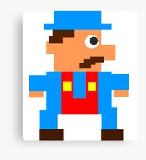 Pixel Arcade Video Game Hero Canvas Print