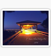 St Simon's Island; Lonely Pier Sticker