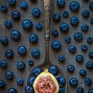 blueberries and a fig by alan shapiro
