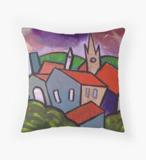 Red roofs Throw Pillow