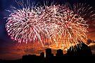 Spectacular Fireworks  in Waikiki 3 by Alex Preiss