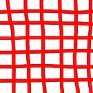 Tiled red Dancing Lines Happy  by rupydetequila