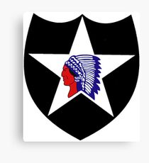 Logo of the Second Infantry Division, U. S. Army Canvas Print