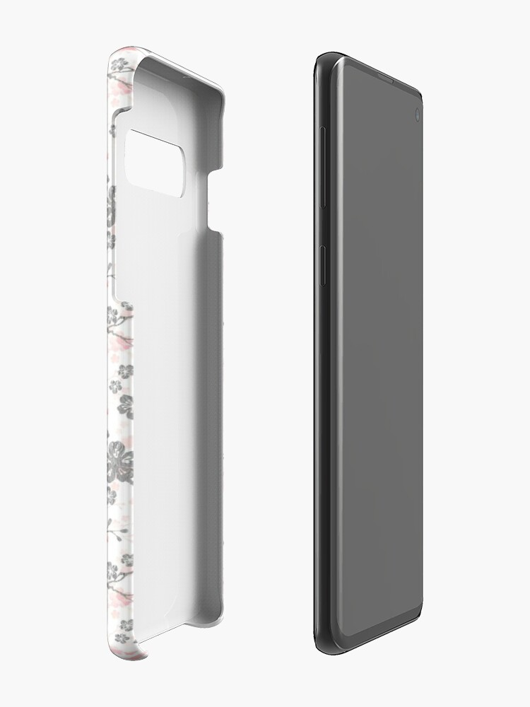 Alternate view of Silver and pink cherry blossom birds Case & Skin for Samsung Galaxy