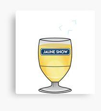 Jaune Snow - Jon Snow - Ricard Canvas Print