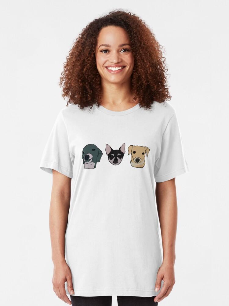 Alternative Ansicht von Jennas Hunde Slim Fit T-Shirt