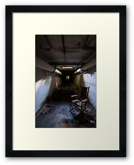 rocking chair in tunnel by rob dobi