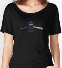 Pink Floyd Doctor Who mash up dark side of the police box! Women's Relaxed Fit T-Shirt