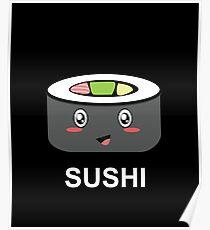 Cute Kawaii Sushi Poster