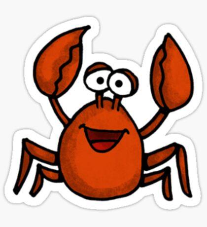 happy crab Sticker