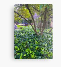 Green City Garden Metal Print