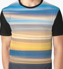 Coastal abstract wavy pattern over horizon Graphic T-Shirt