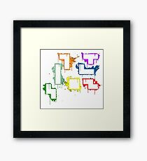 splater tetris Framed Print
