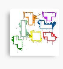 splater tetris Canvas Print