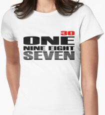 30 ONE NINE EIGHT SEVEN Women's Fitted T-Shirt