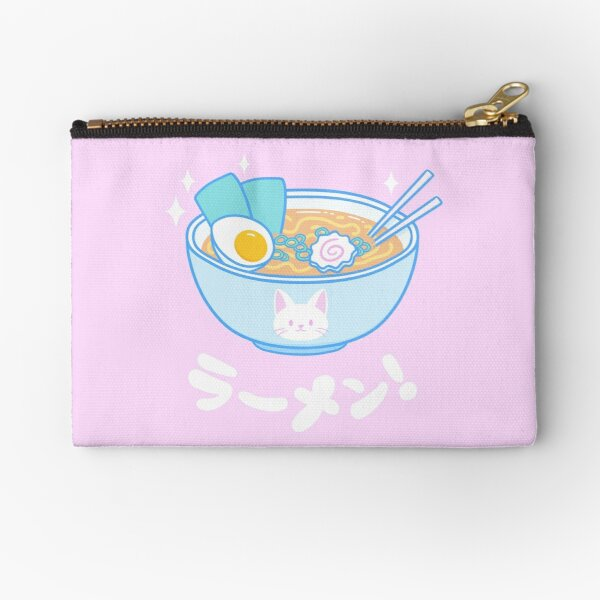 Cute Ramen Zipper Pouch