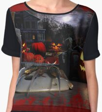 Halloween Backdrop Chiffon Top
