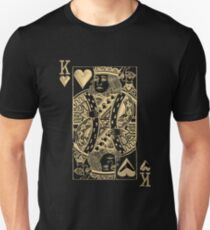 King of Hearts in Gold over Black  T-Shirt