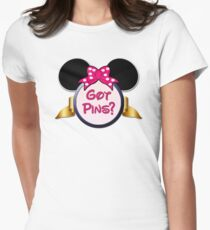 Got Pins? Pin Trading (Pink) Women's Fitted T-Shirt