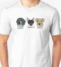 Jennas Hunde + Namen Slim Fit T-Shirt