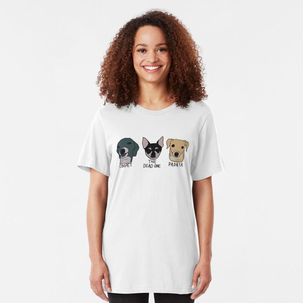 Teppich, Papaya und der Tote Slim Fit T-Shirt