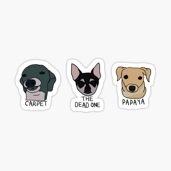 Carpet, Papaya and The Dead One (Sticker Pack) Sticker