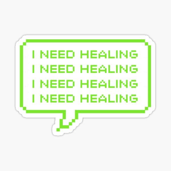 GUESS who needs healing Sticker