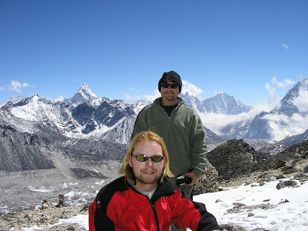 Did it! at the top of Kala Patthar, overlooking Mt Everest. by BigCanvas