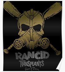 Rancid transplants skull punk Poster