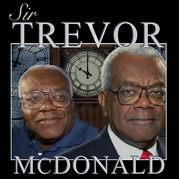 Sir Trevor McDonald Homage Tee by dreamtofly