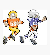 American Football Cartoon Style 35/41 Photographic Print