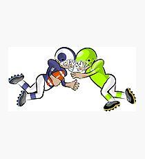 American Football Cartoon Style 38/41 Photographic Print