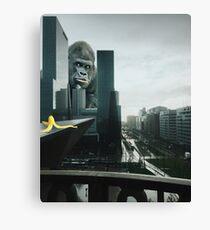 King Kong searching Banana in Town  Canvas Print